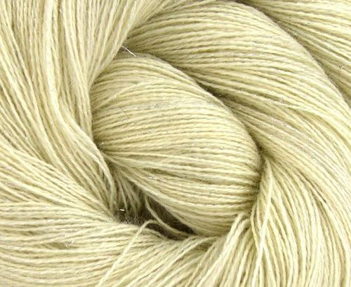 BFL/Tussah Silk/Silver Stellina lace 100 g